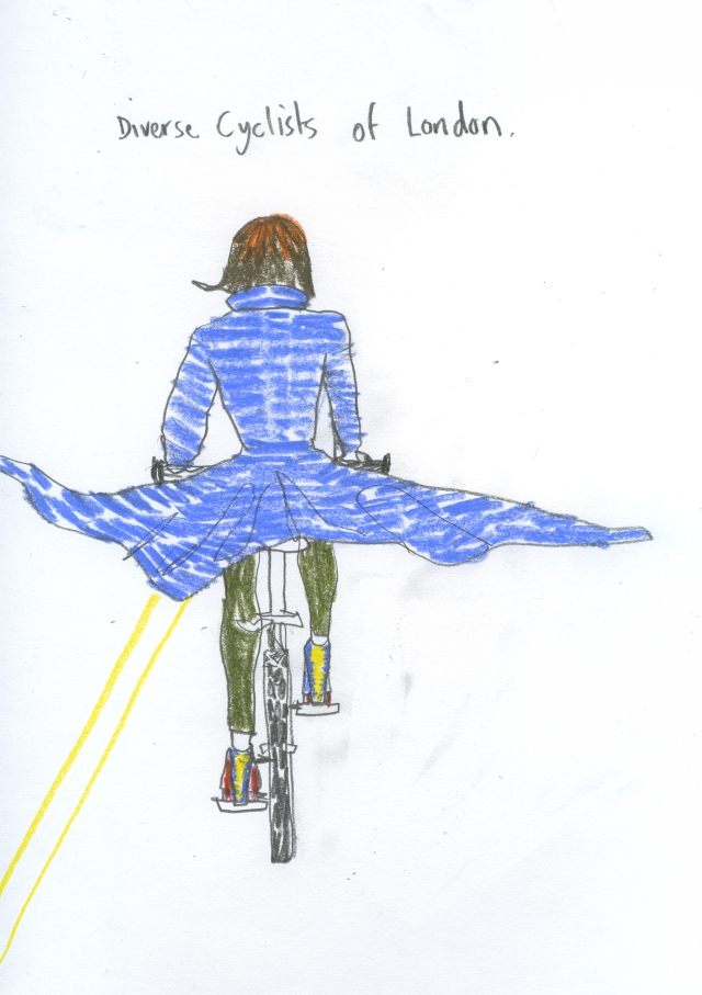 wonderwoman on a bike