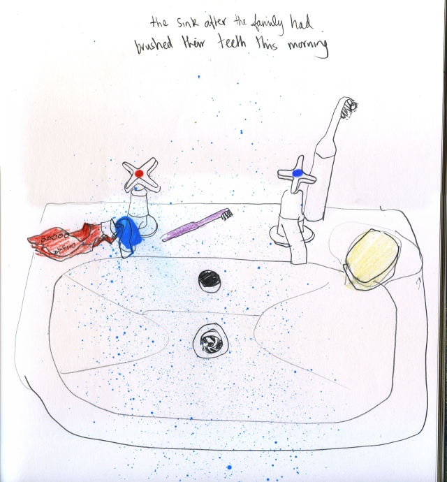 Bathroom sink aftersml