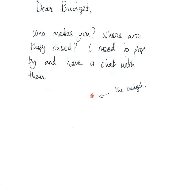 Dear Budget
